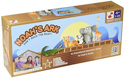 Noah's Ark Toy - Balancing Game Religious Stacking Educational Board Game with Animal Toy - 104 Piece Set -