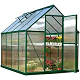 Palram Nature Series Mythos Hobby Greenhouse - 6' x 8' x 7', Forest Green