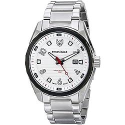 Swiss Eagle Men's SE-9063-33 Engineer Analog Display Swiss Quartz Silver Watch