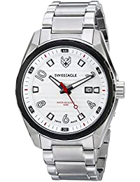 Mens SE-9063-33 Engineer Analog Display Swiss Quartz Silver Watch