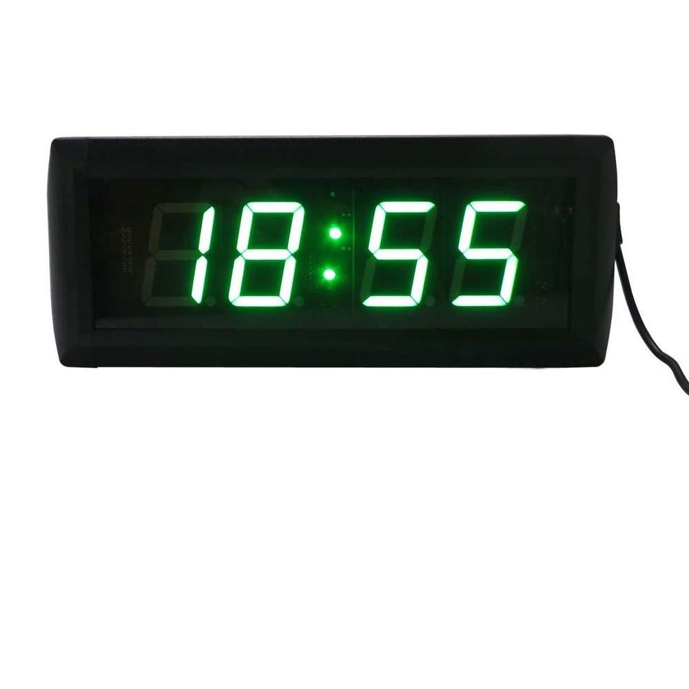 LEDタイマー リモコン付きLEDデジタルインターバルワークアウトタイマーカウントダウンストップウォッチブラック タイマー (色 : ブラック, サイズ : 34X10X4CM) ブラック 34X10X4CM