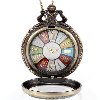 Jewelrywe retro style wheel rome pocket watch vintage steampunk jewelrywe retro style wheel rome pocket watch vintage steampunk pocket watch pendant long necklace 30quot aloadofball Gallery