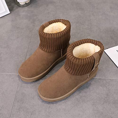 Zxl-xdx Schneestiefel Frauen Winter der Kurze Schlauchstiefel Frauen koreanische Version der Winter Mode Plus warme Baumwolle Samt Studenten Studenten Rutschfeste Stiefel der Frauen 8cfccb