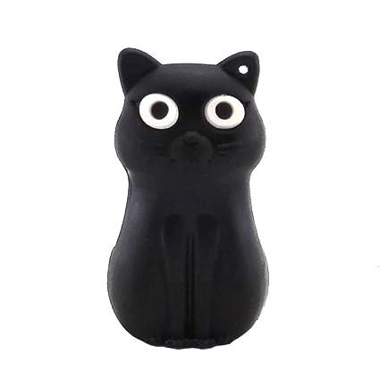 Aneew 32GB Cartoon Black Sitting Cat Animal Model USB Flash Drive U Disk Pendrive