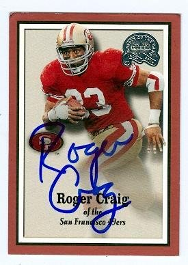 Roger Craig autographed Football Card (San Francisco 49ers) 2000 Fleer Greats of the Game #21 - NFL Autographed Football Cards Autographed Nfl Game Football
