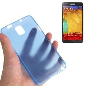 """Galaxy Note 3 : caso de la cubierta protectora de plástico azul """"Ultra Fine"""""""