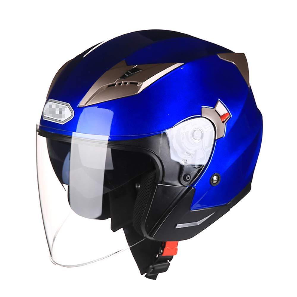 オートバイヘルメット男性と女性四季電気自動車の半分覆われたバッテリーカーの半分のヘルメット人格ヘルメット,G-XL