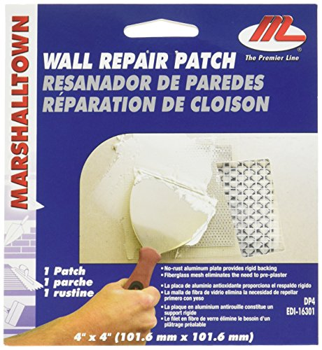 MARSHALLTOWN The Premier Line DP4 4-Inch by 4-Inch Drywall Repair Patch Kit (Repair Kit Spackle Wall)