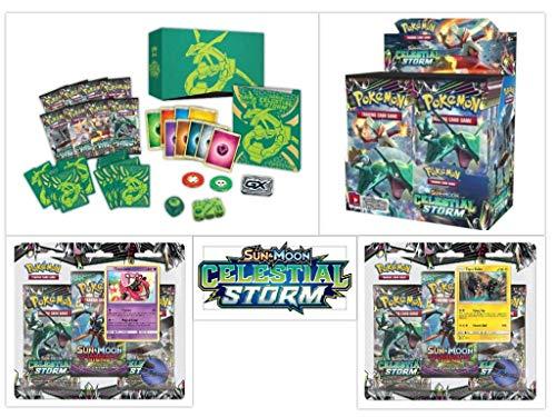 Pokémon TCG Celestial Storm Ultimate Trainer Kit Bundle, Including 1 Booster Box, 1 Elite Trainer Box, and 2 Blister Packs