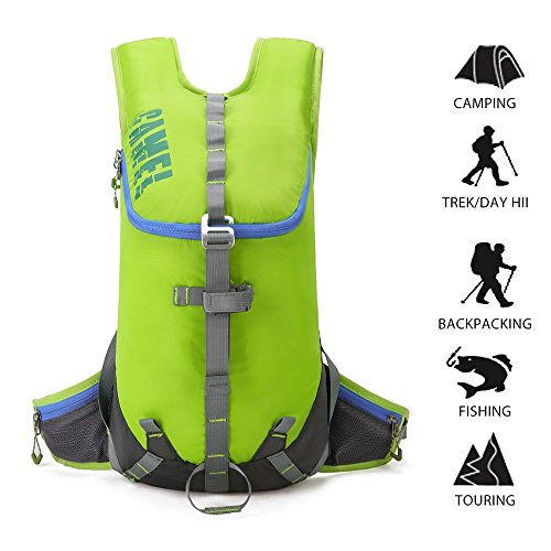 100 Aw Backpack - Lightweight Hiking Backpack CAMEL CRWON Durable Travel Daypack Outdoor Sports Daypack for Climbing Camping Mountaineering Traveling Green