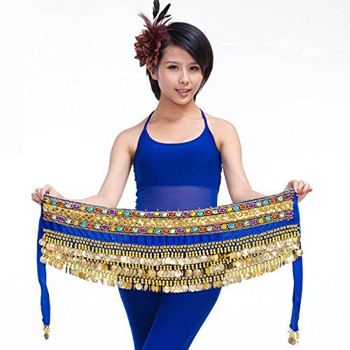 Écharpe Hip Jupe danseuse Wrap Dance Style pour 6 nbsp;rangées ceinture pièces Belly 3 pgBxn1wIg