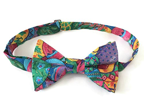 Men's Pre-tied Bow Tie Easter Egg Holiday Celebration (Mens) (Easter Eggs Tie)