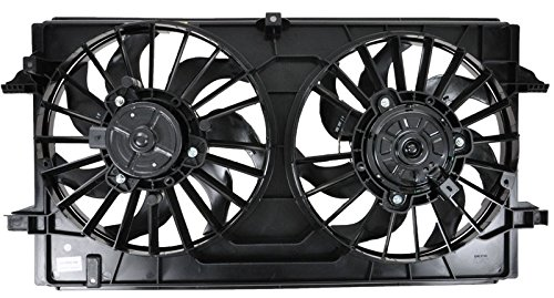 A/c Radiator Cooling Fan (A/C AC Dual Radiator Cooling Fan Assembly for Chevy Pontiac Saturn)