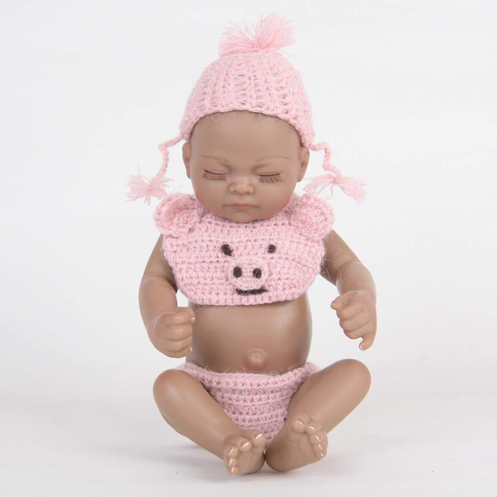 Hongge Reborn Baby Doll,Vollgummi-Reborn Silikonpuppe Kinder Spielzeug Geschenk 28cm