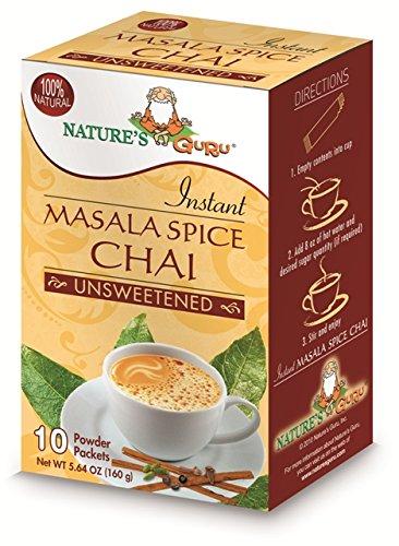 Natures Guru Masala Spice Chai Unsweetened Drink Mix - Pack Of 8 by Nature's Guru (Image #1)
