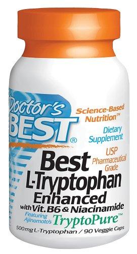 Meilleures 500mg L-tryptophane présentant TryptoPure 90 VegiCaps