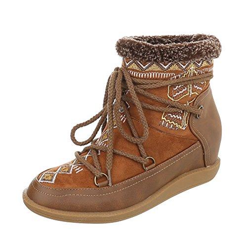 Zapatos para mujer Botas Plataforma Botines de cuña Ital-Design Braun