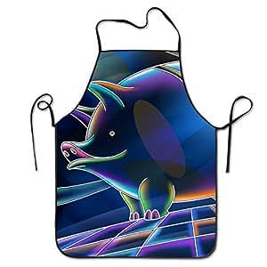 Pig delantales de cocina para mujeres y hombres–Correa de cuello ajustable–restaurante casa cocina Delantal babero para cocinar, parrilla y horno, manualidades, jardinería, barbacoa