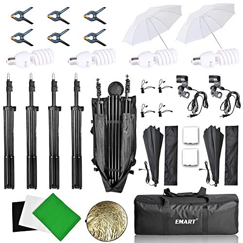 Emart 8.5 x 10 ft Backdrop Support System, Photography Video Studio Lighting Kit Umbrella Softbox Set Continuous Lighting for Photo Studio Product, Portrait and Video Shooting Photography by EMART (Image #6)