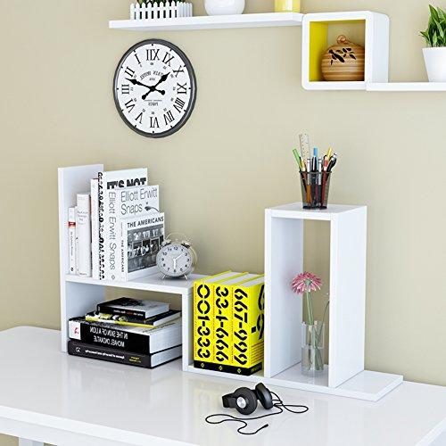 JX&BOOS Bookshelf,Student simple children desktop bookcase office desk storage racks dormitory bookshelves-L (National Office Furniture L-desk)