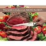 "Knife Set, Kitchen Chef Knives - Stone boomer 14 Piece Knife Block Set, Stainless Steel Knife Set, Chef Knife Set, Knives Set, Scissors, Sharpener & Acrylic Stand, Super Sharp,!!! 12 EVERY KNIFE YOU NEED! Our 14 pc. set includes 8"" chef, 8"" bread, 8"" carving, 5"" utility, & 3½"" paring knives for food prep and serving. Plus 6 - 4½"" steak knives, and 8"" kitchen scissors, 8"" sharpener and an acrylic block stand. It is a beautiful kitchen collection. A favorite baking and cookware utensil for every chef. HIGH QUALITY! Our knives are made to meet the demands of the pros. It is premium stainless steel, a metal that will never tarnish, rust or corrode. All blades are made with strong heavy duty restaurant grade # 430 stainless steel. Our knife sets comply with certification from FDA, - LFGB, - SGS for the home and commercial use. EASY TO HANDLE & MAINTAIN, Our classic lightweight knives is Tapered handles fit perfectly in your hand to maximize control and ensure comfort when you're cutting, slicing, mincing and chopping fruit, meat, sushi, and salad dish and all foods & cakes. - These knives and handles are a solid one piece design. Never worry about the knife will crack or break like plastic, glassware, wooden, color, and ceramic deba knifes, or coming apart."