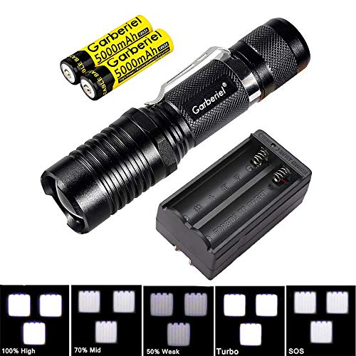 WishDeal 5 Modes 3xT6 LED Flashlight Super Bright Tactical LED Flashlight Waterproof Torch With 18650 Battery and Charger