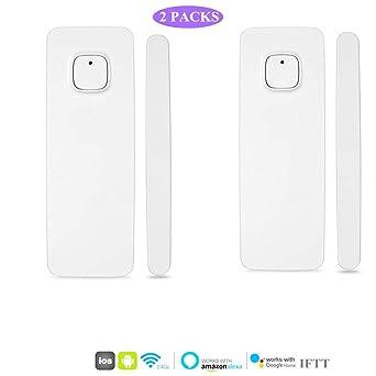 El detector de sensor de imán de puerta de ventana inteligente funciona con Alexa Google Home