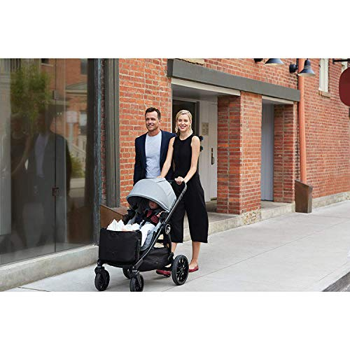 5107u2SrrTL - Baby Jogger City Select LUX Stroller | Baby Stroller With 20 Ways To Ride, Goes From Single To Double Stroller | Quick Fold Stroller, Slate