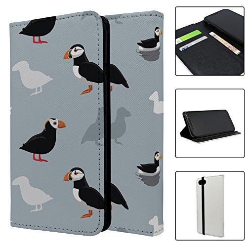 Papageientaucher Vogel-Muster Full Flip Schutzhülle für Apple iPhone 5