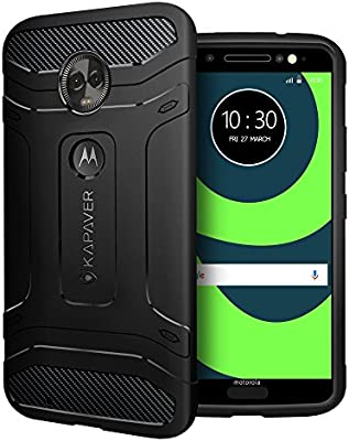 Amazon.com: kapaver Motorola Moto G6 funda Slim Rugged Armor ...