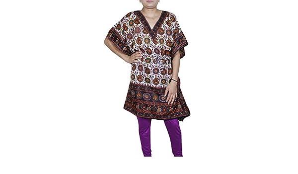 Túnica Kaftán Kimono Vestido Ropa De Dormir Camisón Mujer Noche De Verano corta Fiesta Plus Talla: Amazon.es: Ropa y accesorios