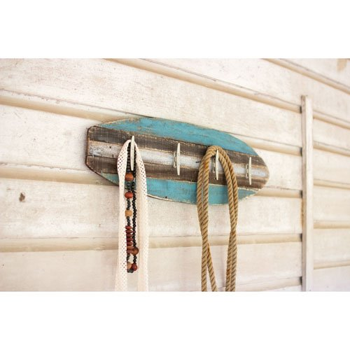 Perchero de madera Tabla de surf con Cleat Perchas: Amazon ...