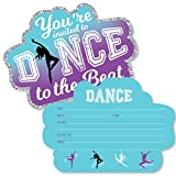 Big Dot of Happiness Must Dance to the Beat - Dance - Shaped Fill-In Invitations - Dance Party or Birthday Party Invitation Cards with Envelopes - Set of 12