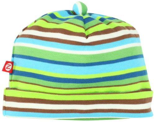 Zutano Unisex-Baby Infant Multi Stripe Hat, Chocolate, 6 Months
