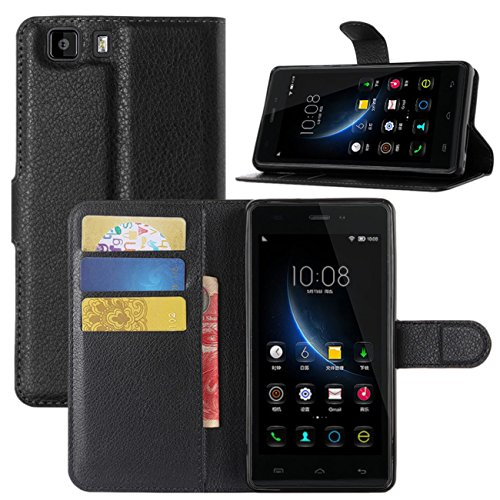 DOOGEE X5 Case, Doogee X5 Pro Case, Fettion Premium PU Leather Wallet Phone Cases Flip Cover with Stand Card Holder for Doogee X5/Doogee X5 Pro Smartphone (Wallet - Black)