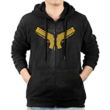 Men Destiny Hunter Gunslinger Logo Hooded Sweatshirt Black