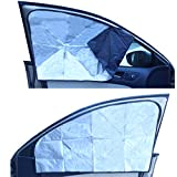 ZATOOTO Car Window Sun Shade - 2 Pieces Side Window Sunshades for Baby Women Men Foldable Front