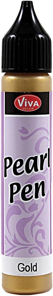 Viva Decor VVPPEN-90101 25ml Pearl Pen, Gold