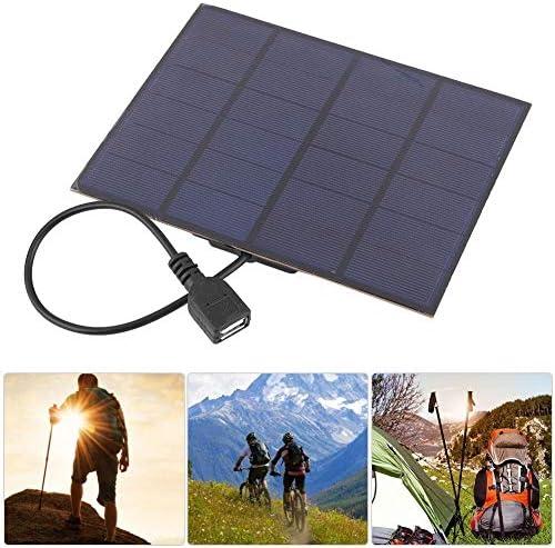Dgtrhted 3.5W 6V 0.58A Mini Solar-Panel-Modul-System USB-Ladegerät DIY