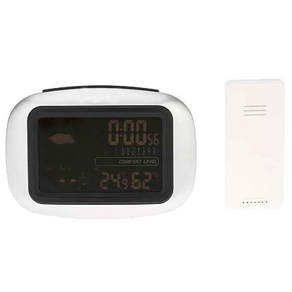 Laileya Medidor de humedad de la estación meteorológica del sensor inalámbrico digital termómetro higrómetro de retroiluminación