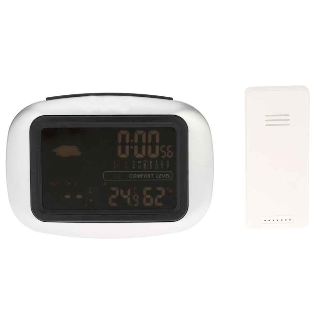 Xuanhemen LCD Backlight Weather Station Digital Wireless Sensor Thermometer Hygrometer In/Outdoor Clock Temperature Humidity Meter