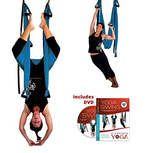 Turquoise Yoga Inversion Swing + Yoga Swing DVD by Chris Acosta by Gravotonics; St. Petersburg Yoga