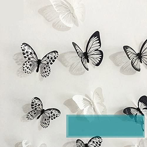 18PCS 3D Butterfly Wall Art Decal Stickers Magnet Mural Home Decorations