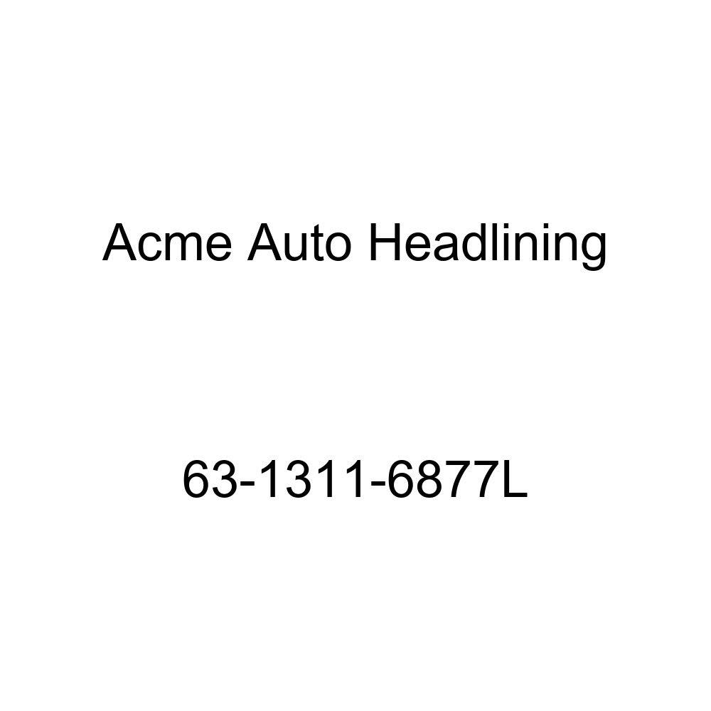 Acme Auto Headlining 63-1311-6877L Dark Red Replacement Headliner Cadillac DeVille 2 Door Hardtop 6 Bow