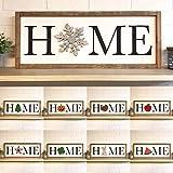PotteLove Full Set Home Cutout Framed Wood Sign, Custom Wall Hanging, Seasonal Home Decor, Interchangeable O, Holidays…