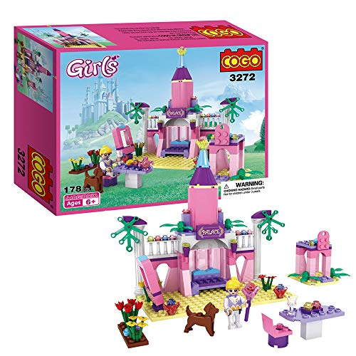 (COGO Girls Princess Fairy Tale Castle Building Blocks Toys for Girls Construction Bricks Education Learning Toy Sets 178 Pieces 3272)