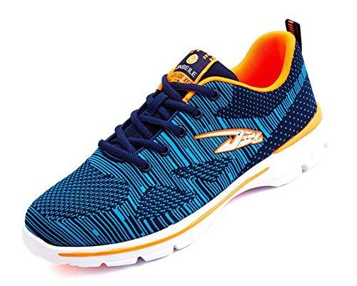 SHIXR Hommes Printemps Nouveaux modèles de couple Chaussures de sport en plein air Loisirs Voyage Chaussures de course Chaussures de basket-ball , blue , 42