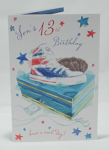 Son 13th Birthday Card Fashionista Design