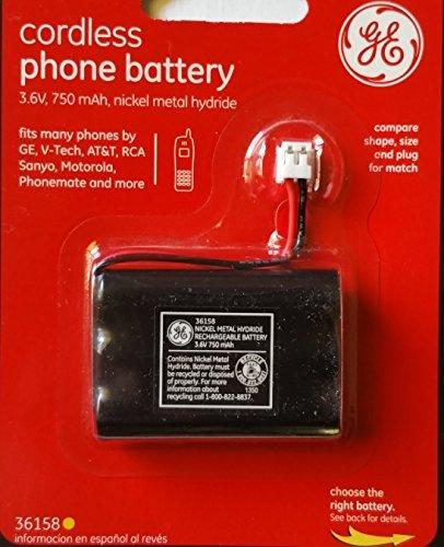GENERAL ELECTRIC CORDLESS PHONE BATTERY 3.6V 750 mAh 36158