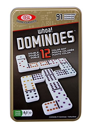 Ideal Whoa! Double 12 Color Dot Dominoes